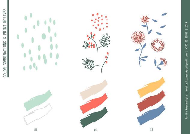 Graphic motifs & colour palette for prints