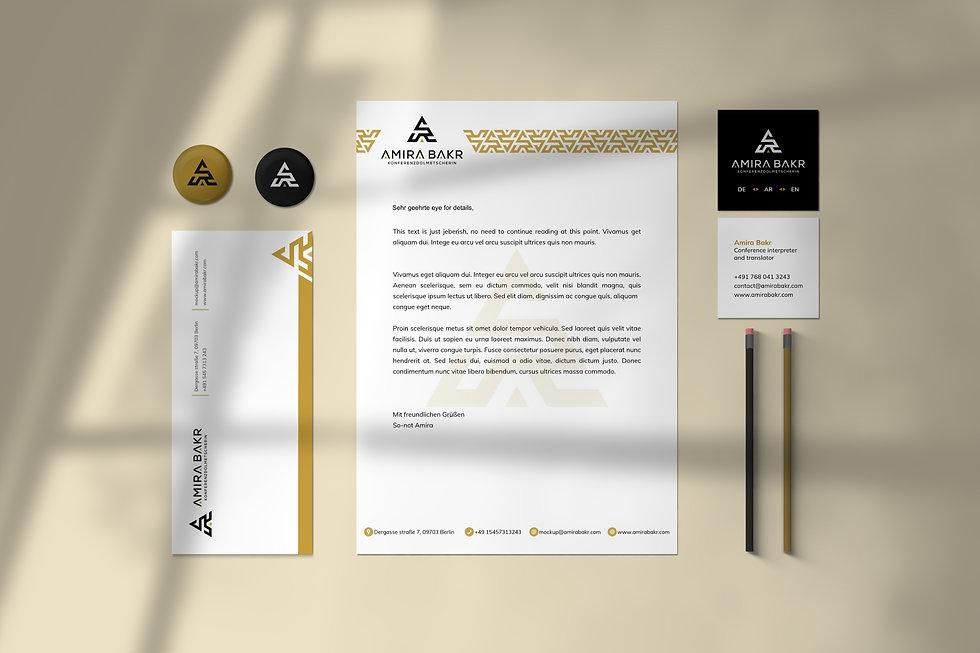 Amira Bakr brand identity   Pixhance