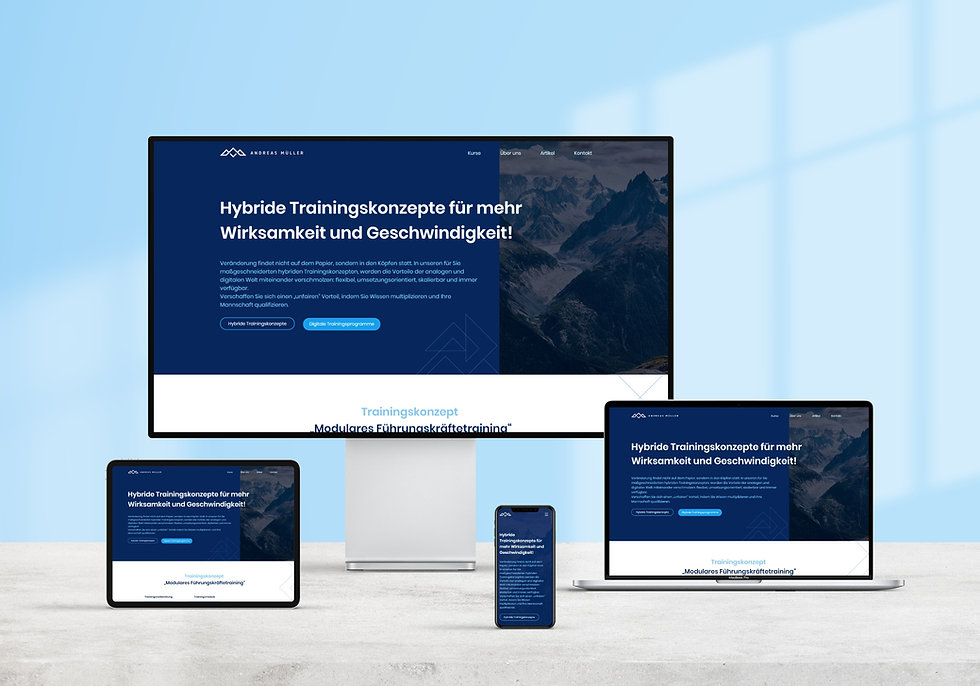 Andreas Mueller branded website   Pixhance