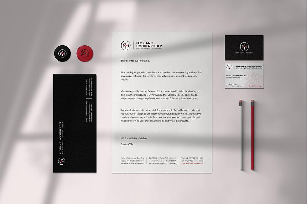 Florian Hochenrieder brand identity | Pixhance