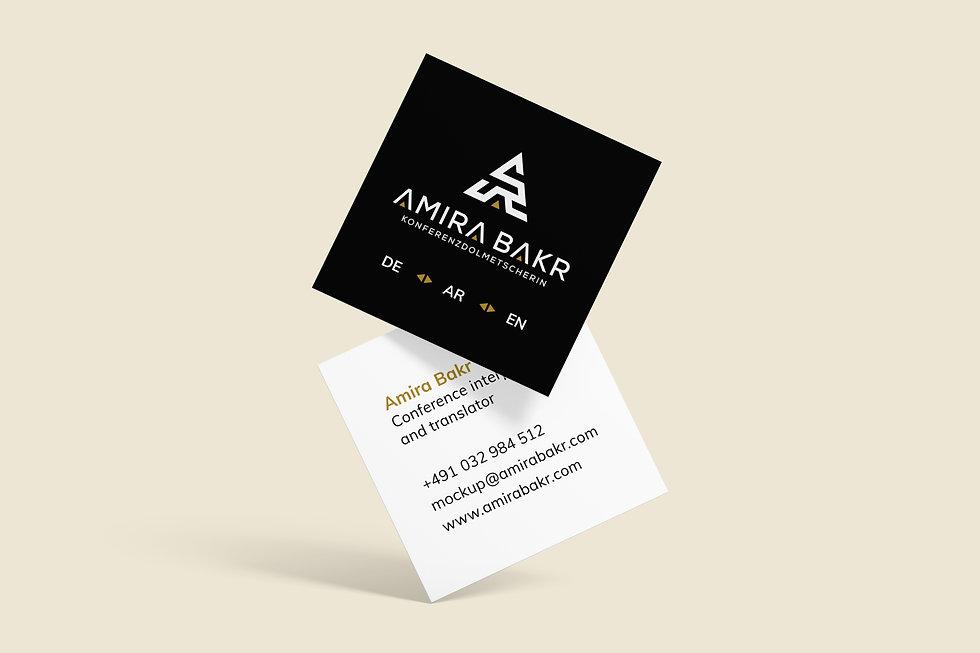 Amira Bakr business card   Pixhance
