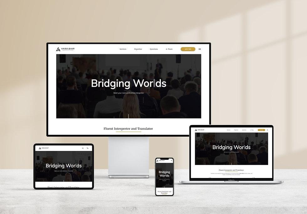 Amira Bakr branded website   Pixhance