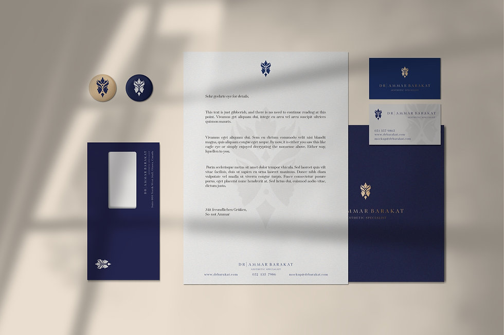 Dr. Ammar Barakat brand identity   Pixhance