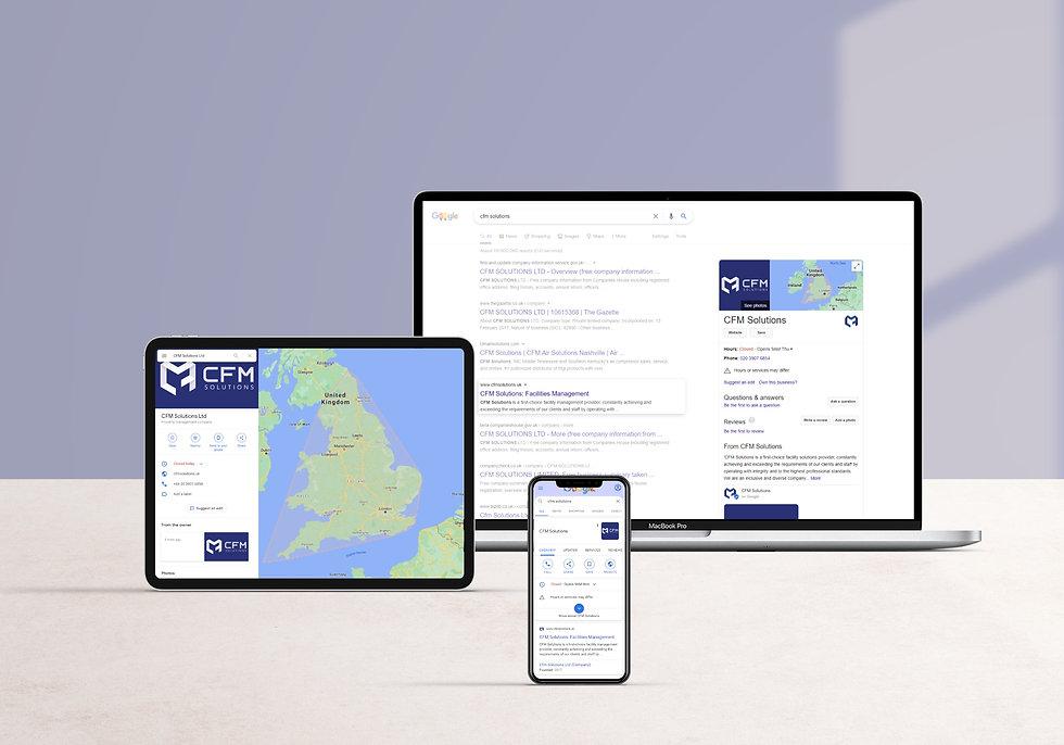 CFM Solutions google listing | Pixhance