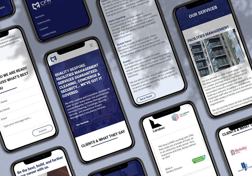CFM Solutions branded website | Pixhance