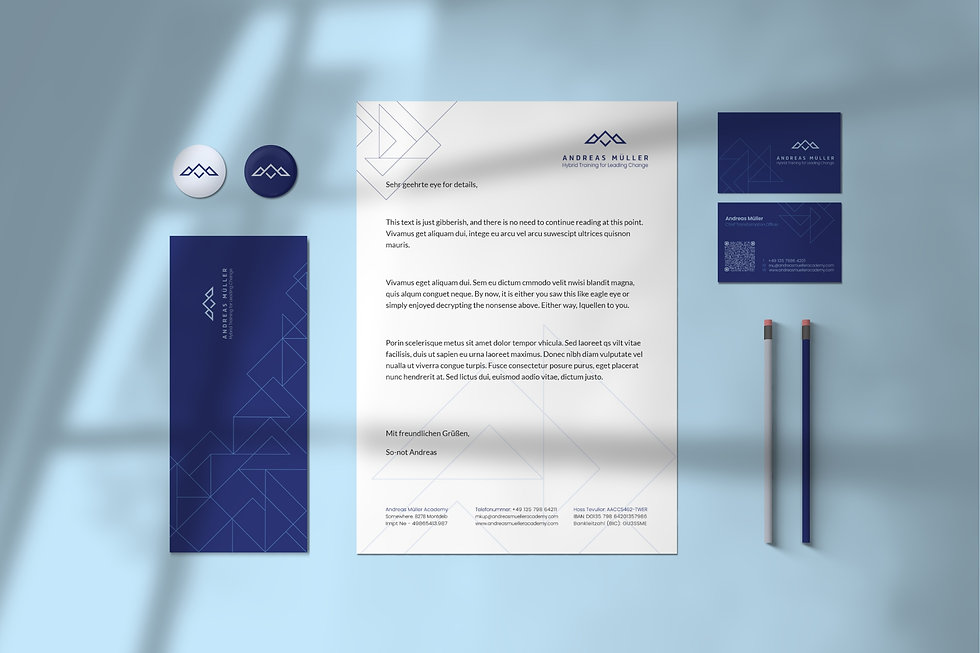 Andreas Mueller brand identity   Pixhance