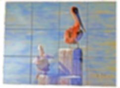 Pelican Ceramic tile backsplash