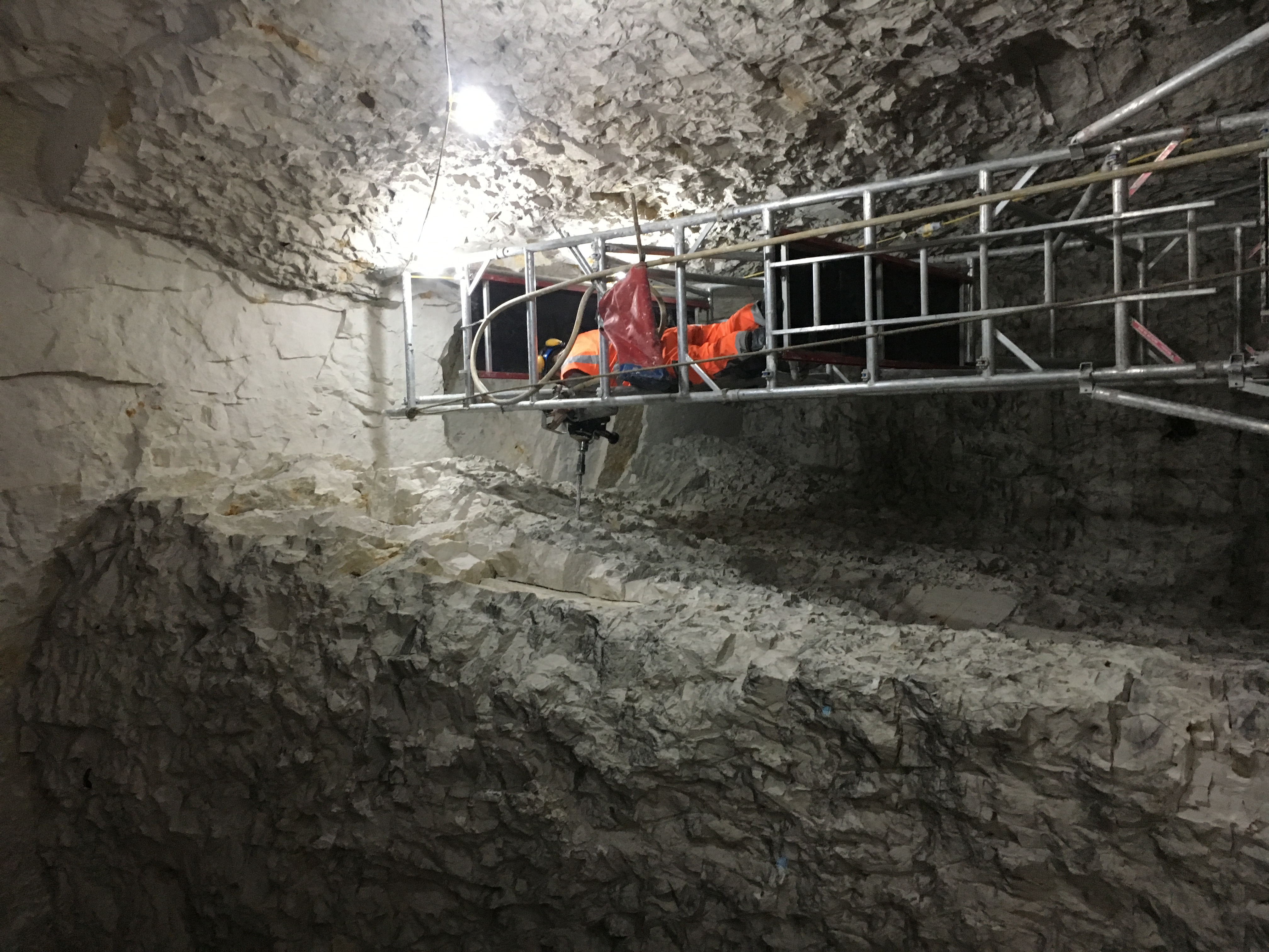 Drilling for rockbolts
