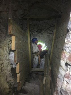 Timbering the entrance passage