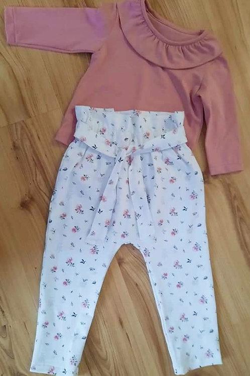 Set Langarmshirt & Paperbag Hose
