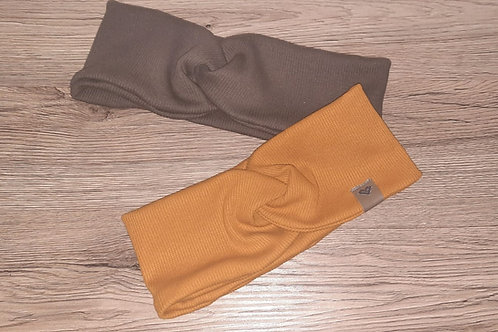 Bandeau-Stirnband aus Ripp-Jersey
