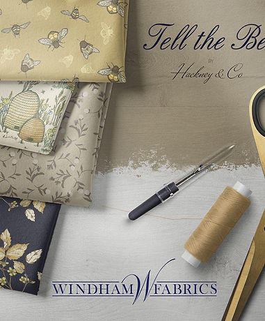Tell The Bees Fabric Bundle Mock up inst