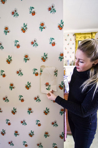 Bespoke Wallpaper Renovation at Skaill House in Orkney.