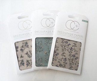 Hackney & Co Decoupage Papers with Craft Consortium