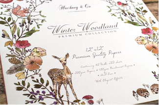 Hackney & Co Paper Craft Collection with Craft Consortium 'Winter Woodland'