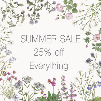 End of Summer Sale 25% off all Botanical Prints, Cards and Wrapping Paper.