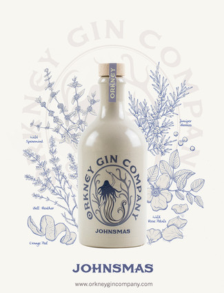 Orkney Gin Company Illustrated Botanicals & Competition