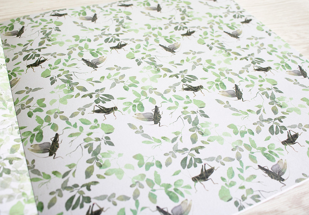 Crickets in the leaves pattern