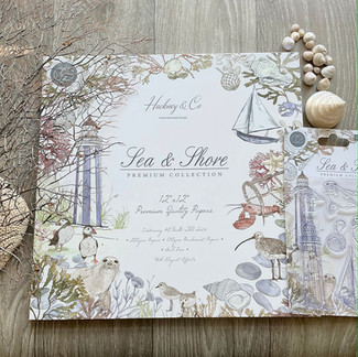 New Hackney & Co Paper Craft Collection with Craft Consortium 'Sea & Shore'