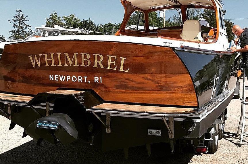 North Country Boatworks Custom Teak Transom Hinckley Yachts