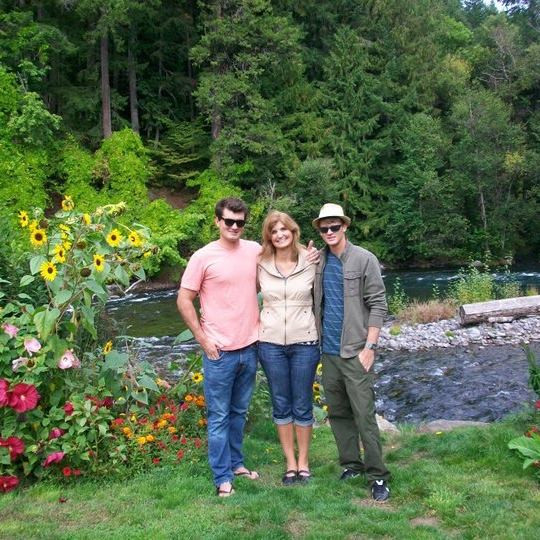 This is me with my boys at Harrison Hot Springs, OR