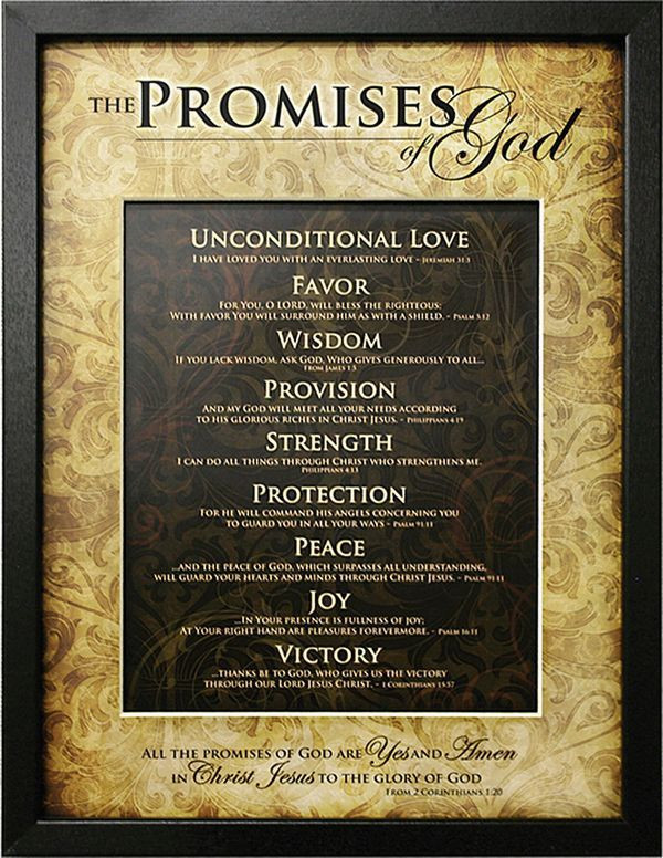 Picture of nine promises of God