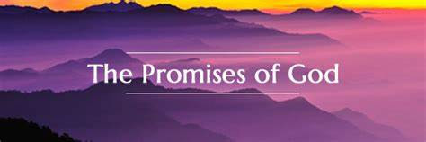 Picture of mountain with the words - The Promises of God