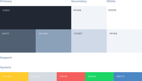 The elementar color system we are using