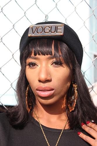Vogue Beanie-Gold