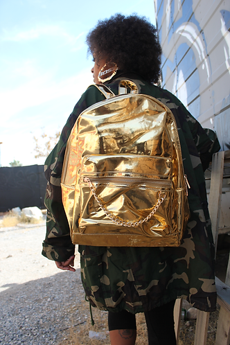 Chain Reaction Book Bag- Gold