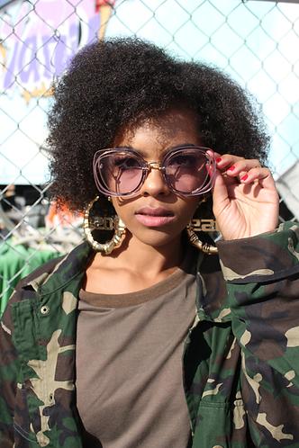 Hazey Eyez Sunglasses- Lavender