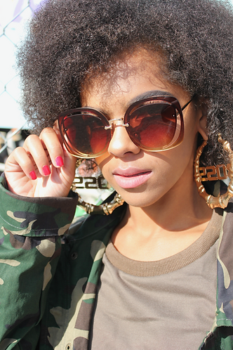 Hazey Eyez Sunglasses- Cola