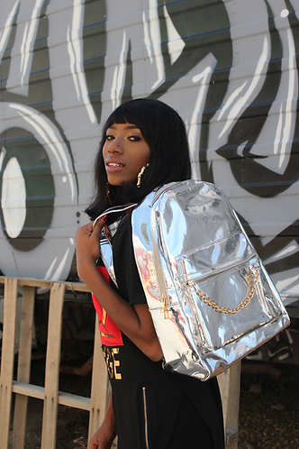 Chain Reaction Book Bag-Silver