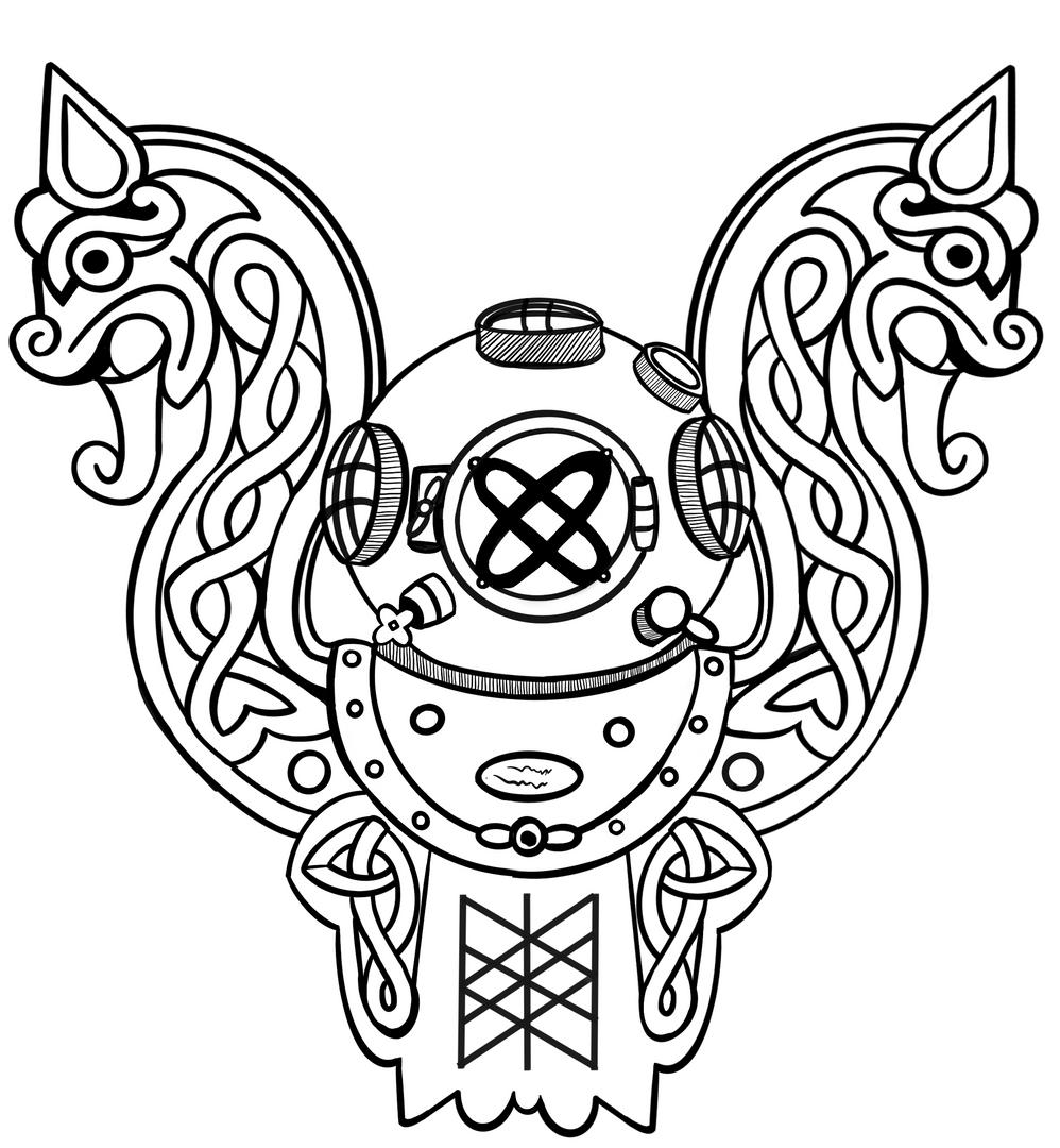 viking diver tattoo