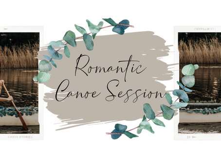 The Cutest Romantic Canoe Session