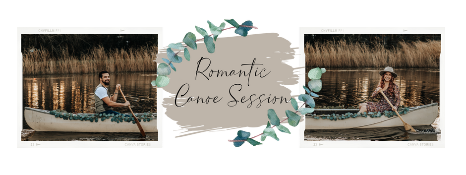 The Cutest Romantic Canoe Session