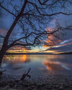 Sunset Wallagoot Lake