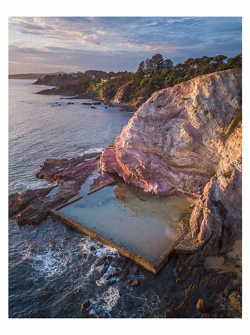 Aslings Beach Rock Pool Eden, Side View