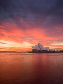 Dawn over The Sydney Opera House