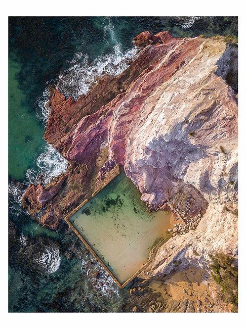 Aslings Beach Rock Pool Eden, Above View