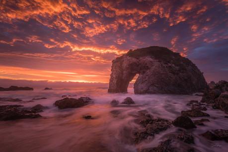 Fiery Dawn Horse Head Rock