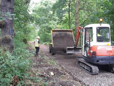 Work commences on Dam Wood Path