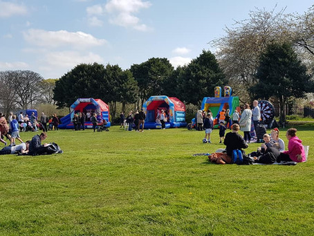 Park picnic fun day for families with autism