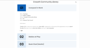 Library group timetables