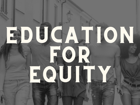 Education For Equity Webinar - 29th April 2021