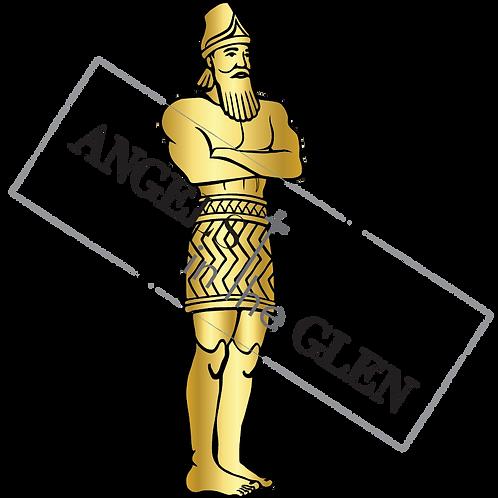Gold Metal Man Image from Daniel 3 (PNG)