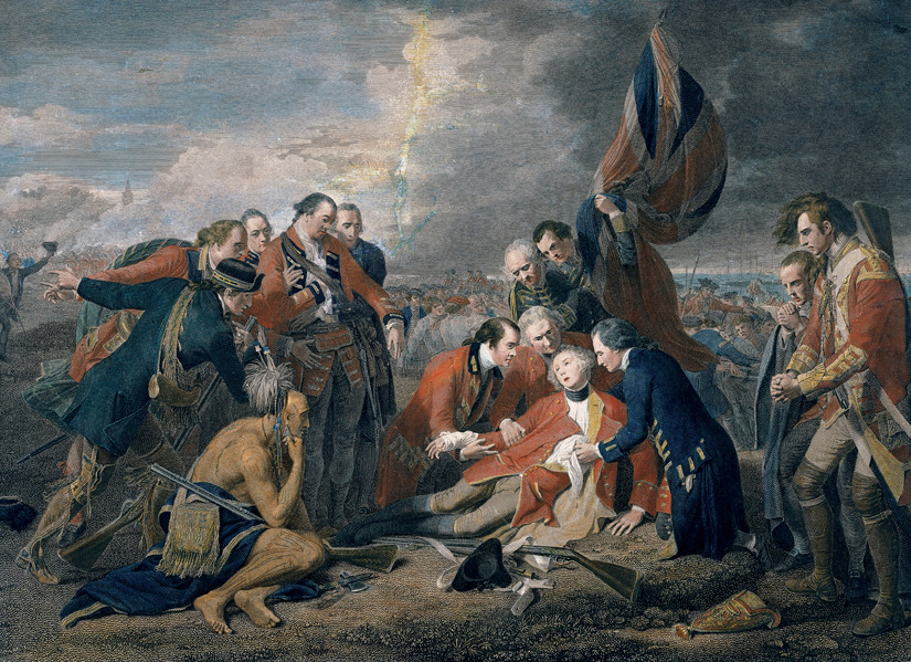 Death of General Wolfe at Quebec