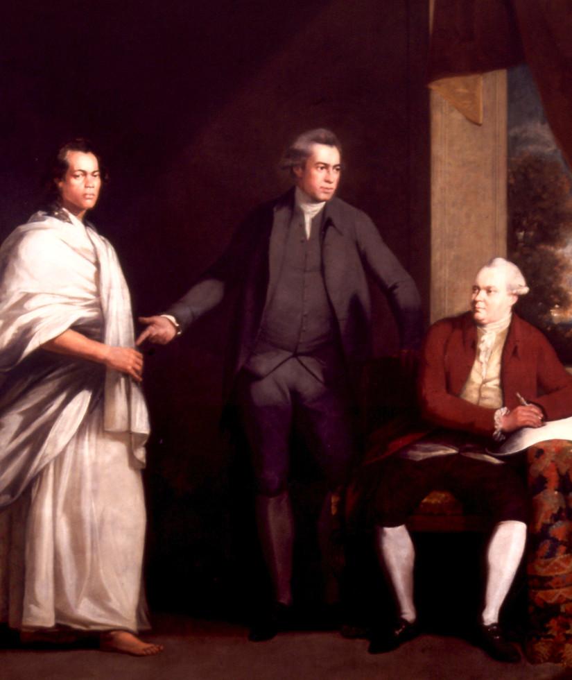 Banks, Dr. Daniel Solander and Omai