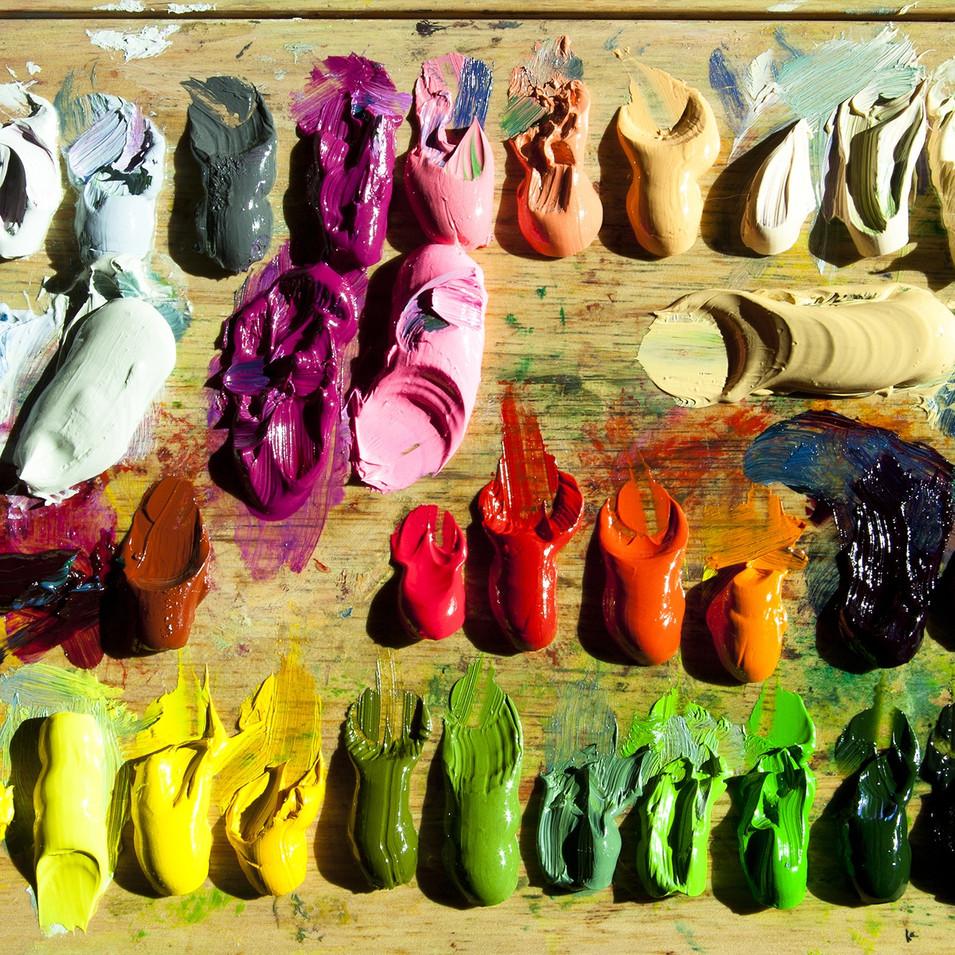 color-art-palette-footwear-oil-painting-