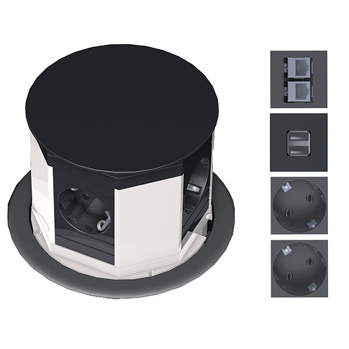 MT LIFT with 2 x CAT6 + 2 x USB + Power socket outlets
